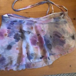 Capezio watercolor wrap skirt for dance